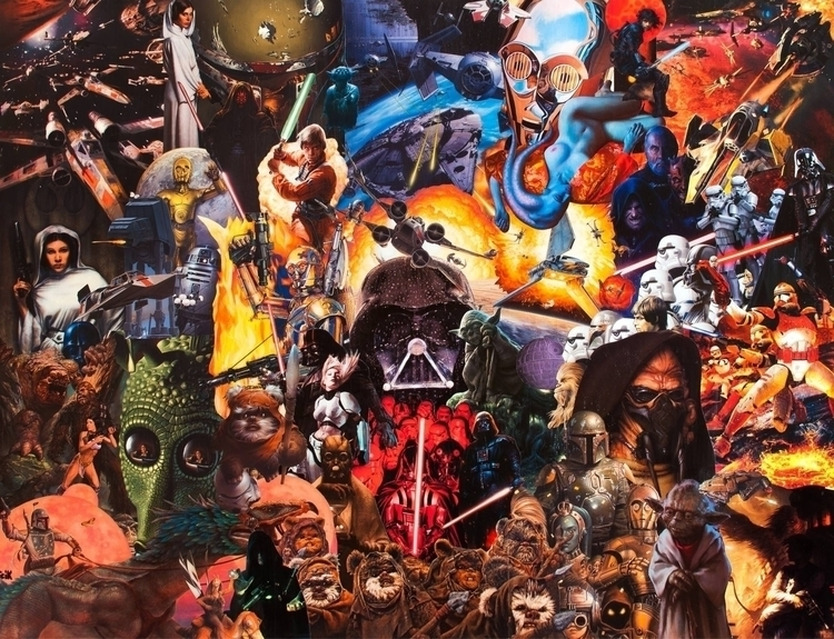 collage starWars - darkside, brightside - fredzy | ello