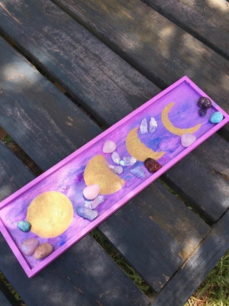 Moon phases decorative tray, fe - crystalseuphoria   ello