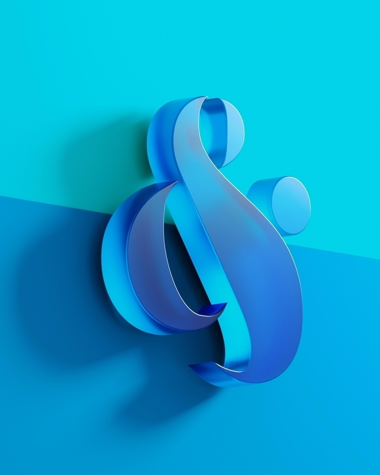 3d, typography, ampersand, design - visua | ello