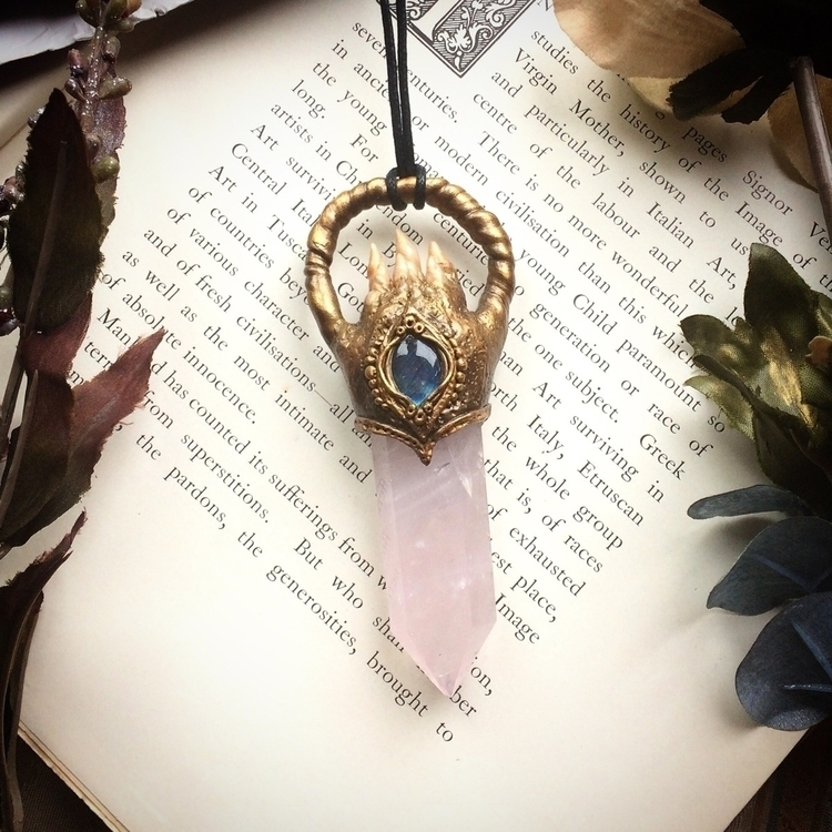 part large rose quartz talisman - amilliadesigns | ello