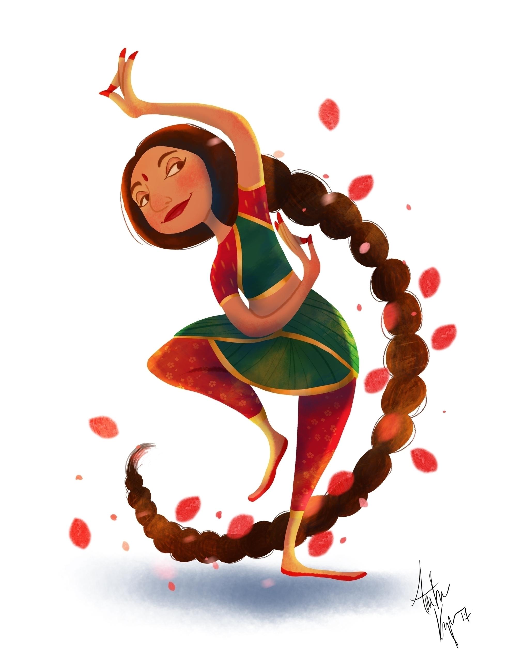 Indian Dancer - characterdesign - amberkrueger   ello
