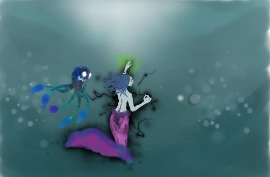 mermaid witch pet octopi.  - tiorday | ello