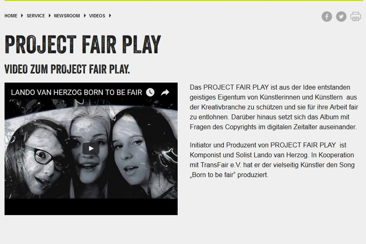 Video bei Fair Trade Deutschlan - projectfairplay   ello