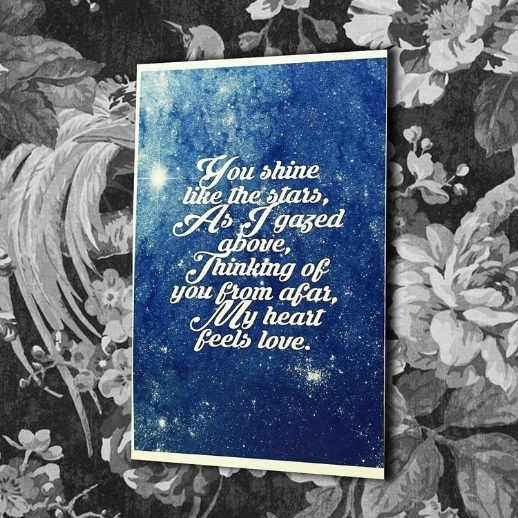 Shine Stars put wall - greetingcard - vexl33t | ello
