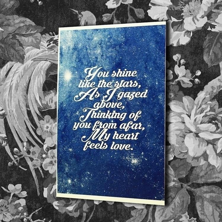 Shine Stars put wall - greetingcard - vexl33t | ello