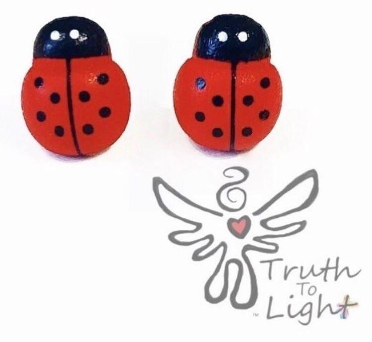 Lady Bug Stud Earrings - 12MM l - truth_to_light | ello