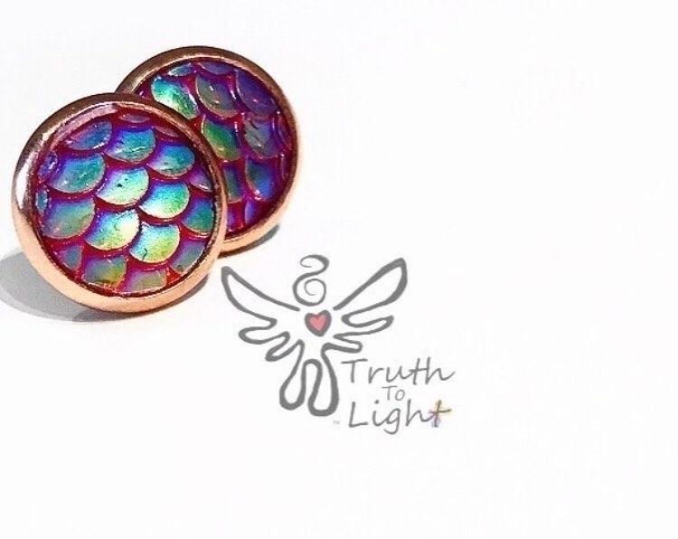 Mermaid Rose Gold Earrings - 10 - truth_to_light | ello