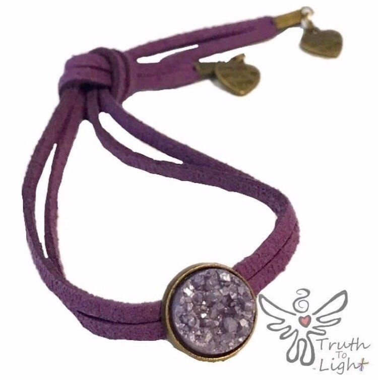 :purple_heart:Plum Druzy Suede  - truth_to_light | ello