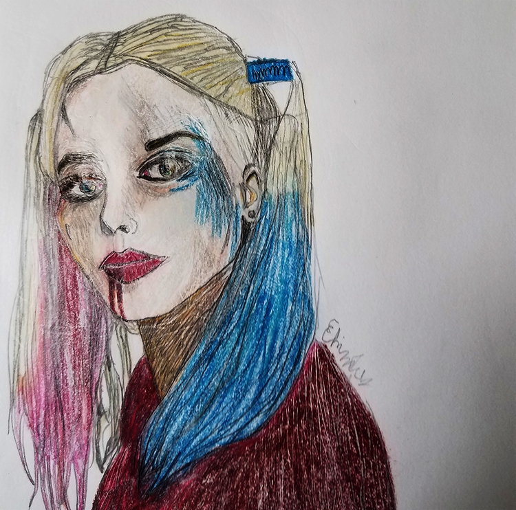 harley color  - drawing, pencil - andaelentari | ello