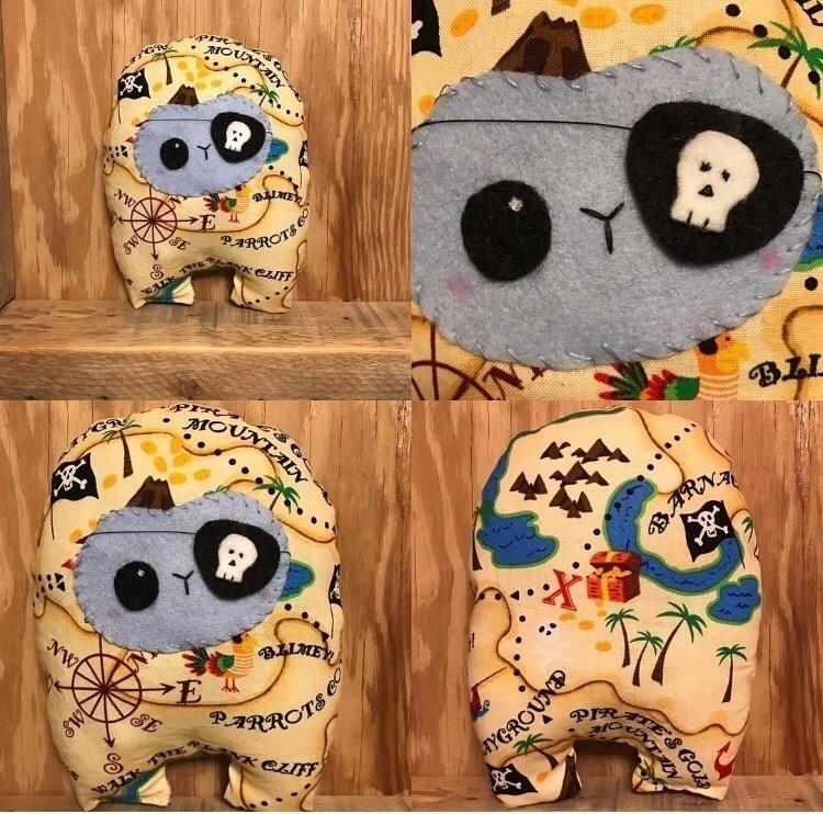 Pirate Huggle  - handmade, plush - tykesanimalkingdom | ello