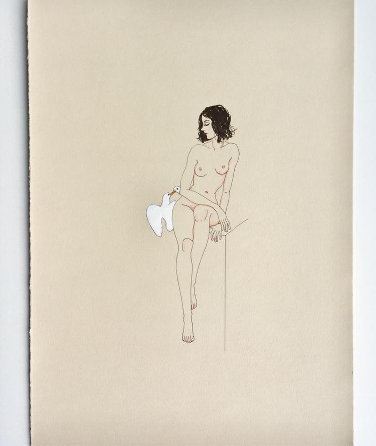 romance pedestal - kunst, art, drawing - lorettamae | ello