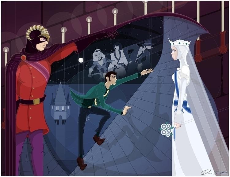 Lupin Castle Cagliostro piece.  - donavonmadethat | ello