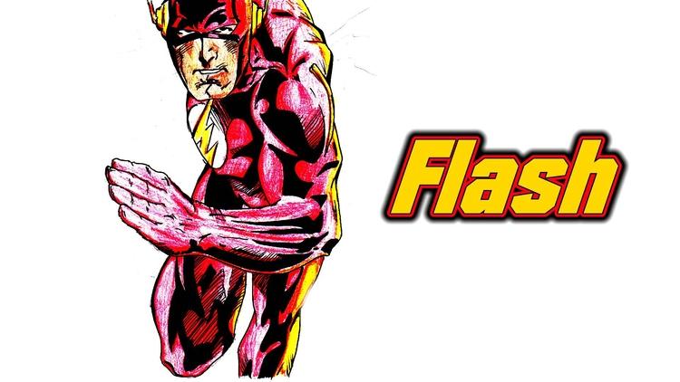 drew Flash - theflash, flash, art - waylightcreate | ello