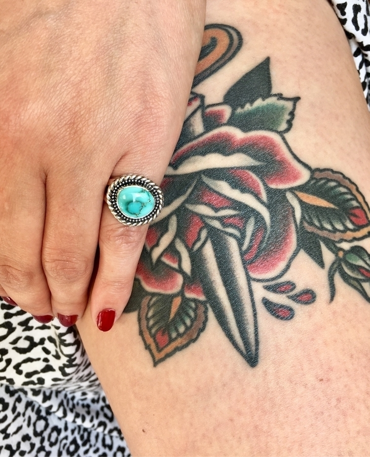 Turquoise tattoos good pair - notchandfletch | ello