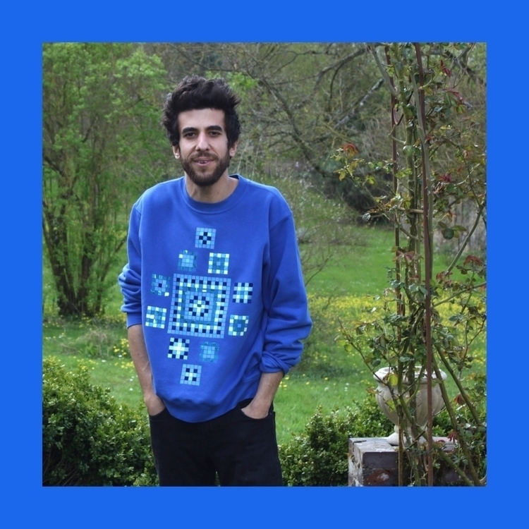 Ethnic-Mosaic Blue Sweater  - pattern - lbxlb_studio | ello