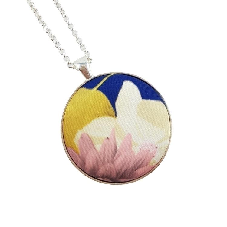 Fabric Necklace • Silk Flora SH - lionaleedesigns | ello