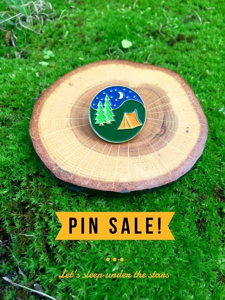 camping pin Sale! marked 10% Ju - forageworkshop | ello