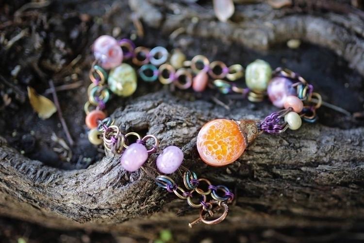 Necklace incorporating art glas - donni-didit | ello