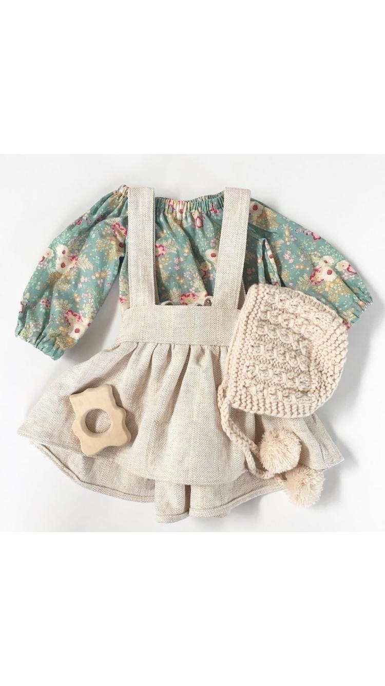 Oak linen herringbone suspender - rubyowl_babywear | ello