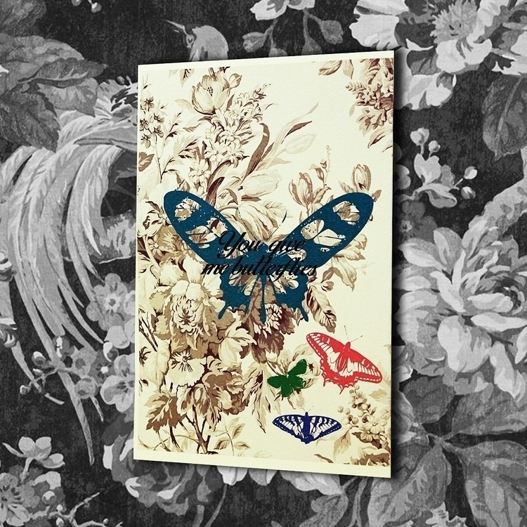 Give Butterflies - greetingcard - vexl33t | ello