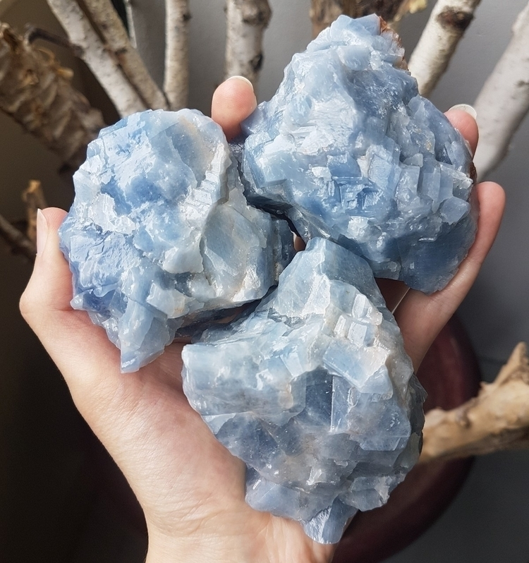 Restocked blue calcite chunks - jimajeen | ello