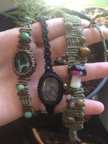 bracelets ive working  - macrame - tangleshandmade | ello