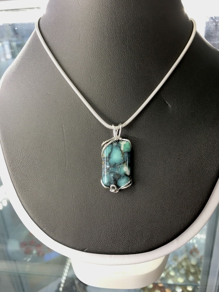 7D Pendant. Price $300.00 - turquoise - galleryroyale | ello