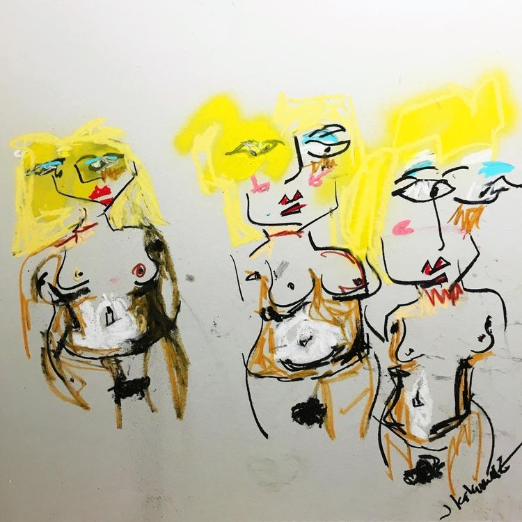Women Bordeaux, 2016 | chalk, c - jkalamarz | ello