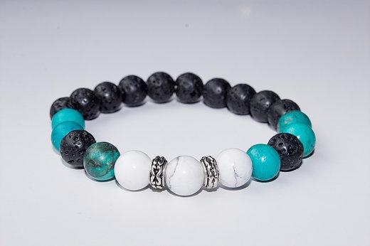 Howlite Lava Stone Calm ○ Stren - creativeintentionmalas | ello