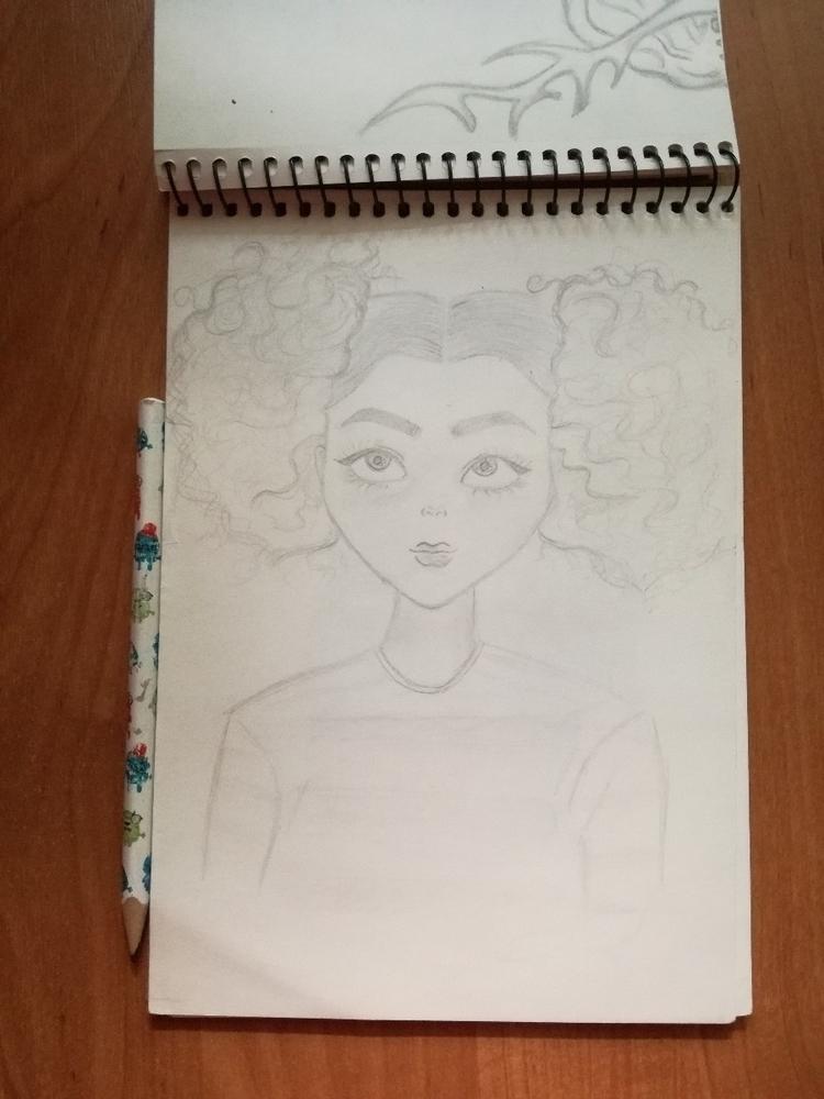 girl, drawing, illustration, pencil - iamella | ello