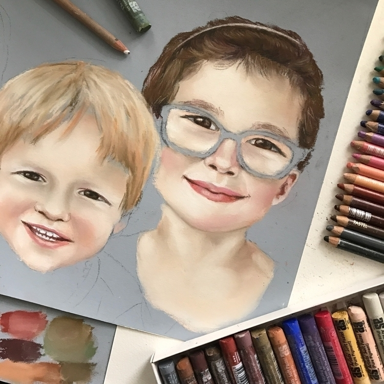 start family portrait - rosannahaywardportraitartist | ello