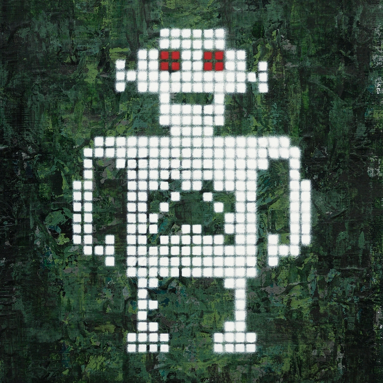 White Robot, Red Eyes - jellemulder | ello