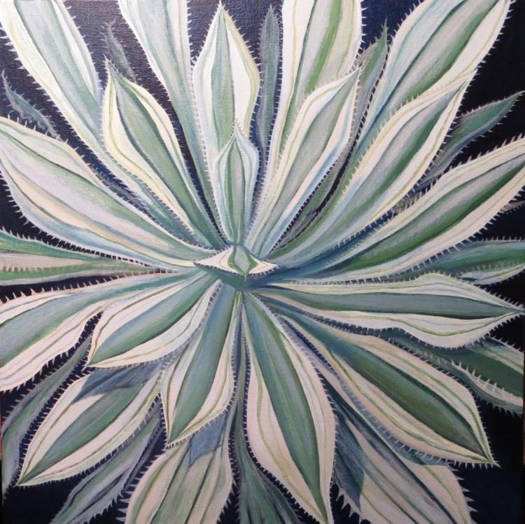 Agave Acrylic Canvas Gregory Ga - gregorygarrett | ello