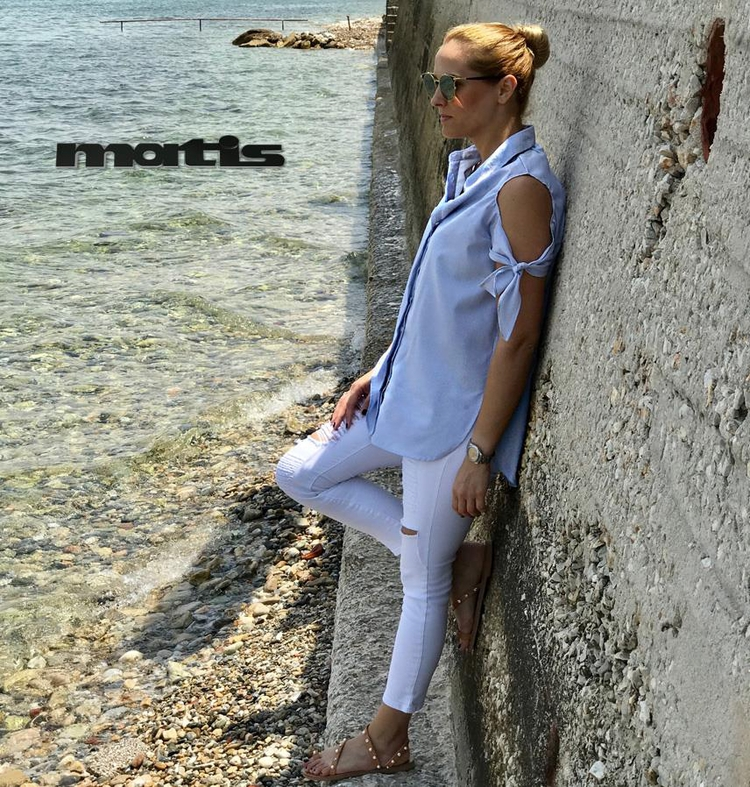 White pants outfit light fun cl - matis_fashion | ello