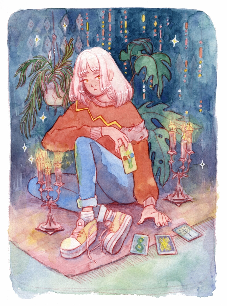 illustration, watercolor, magic - hot_tofu | ello
