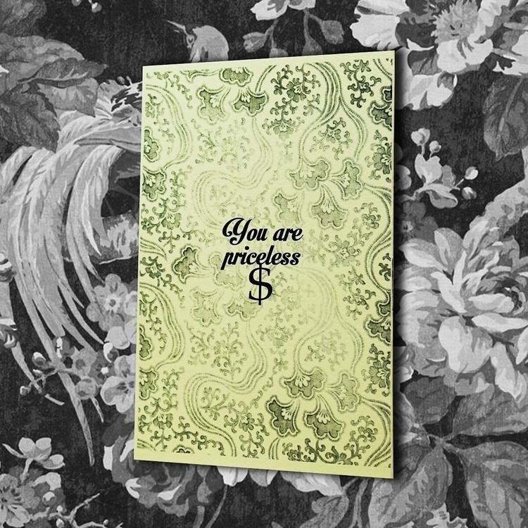 vintage, greetingcard, digitalprinted - vexl33t | ello
