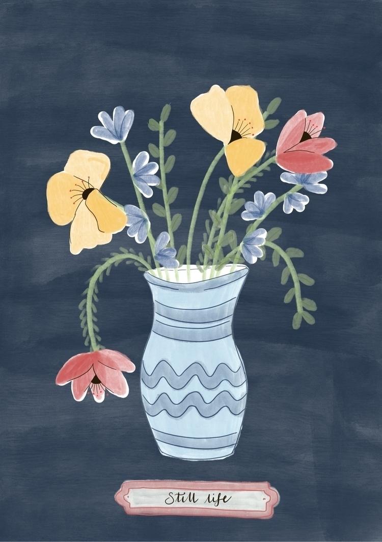 life - slow summer - flowers, illustration - juulstudio | ello
