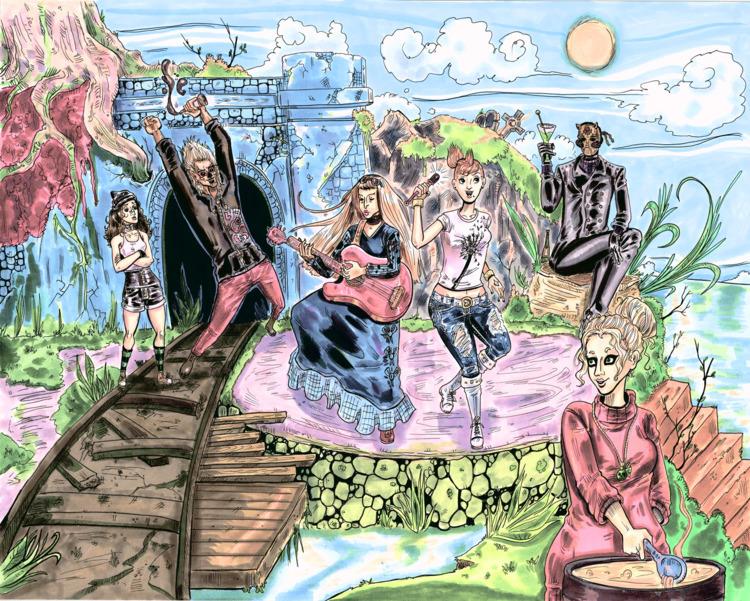 Tainted Eden Main Ensemble! lef - blackblightwoods | ello