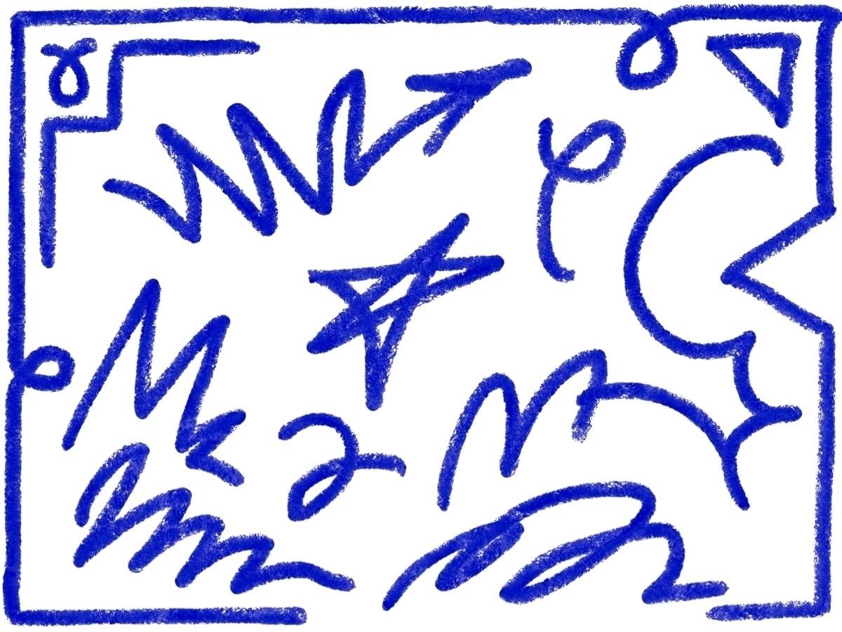 Expressive Blue  - crayons, blue - thomasblankschon | ello