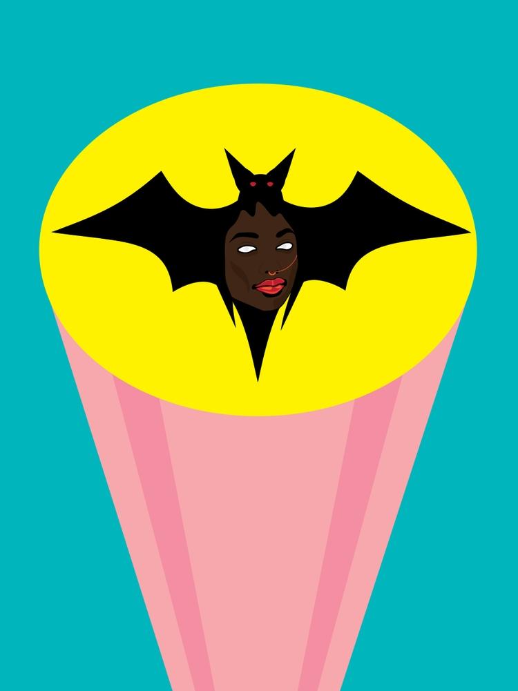 Bat Signal tribute melanin embr - funpowder | ello