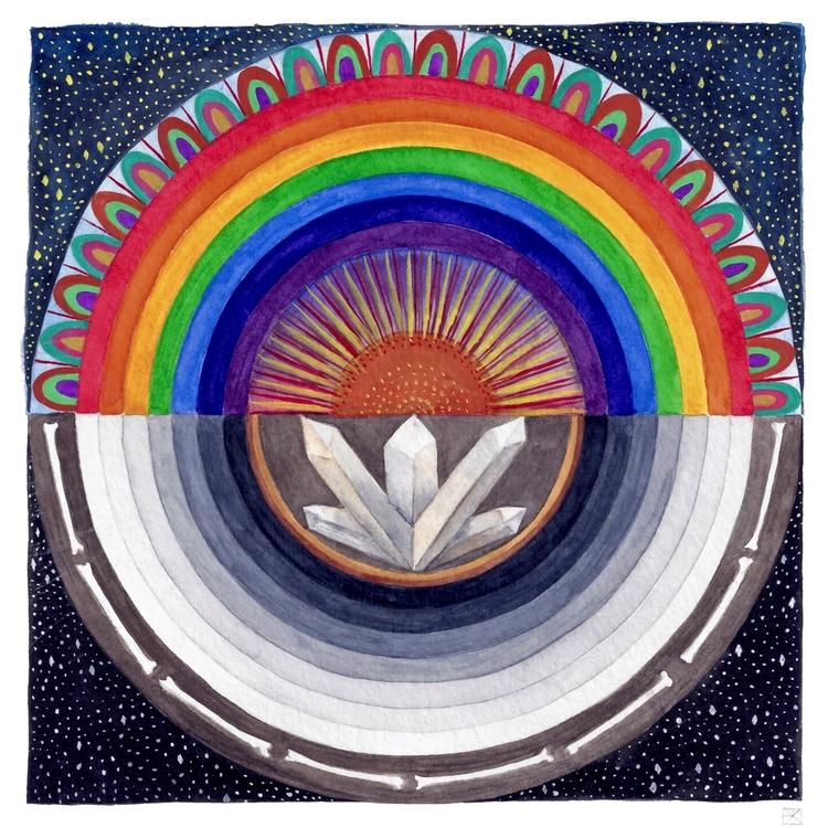 Rainbow. Watercolor gouache. 20 - evmaeve   ello