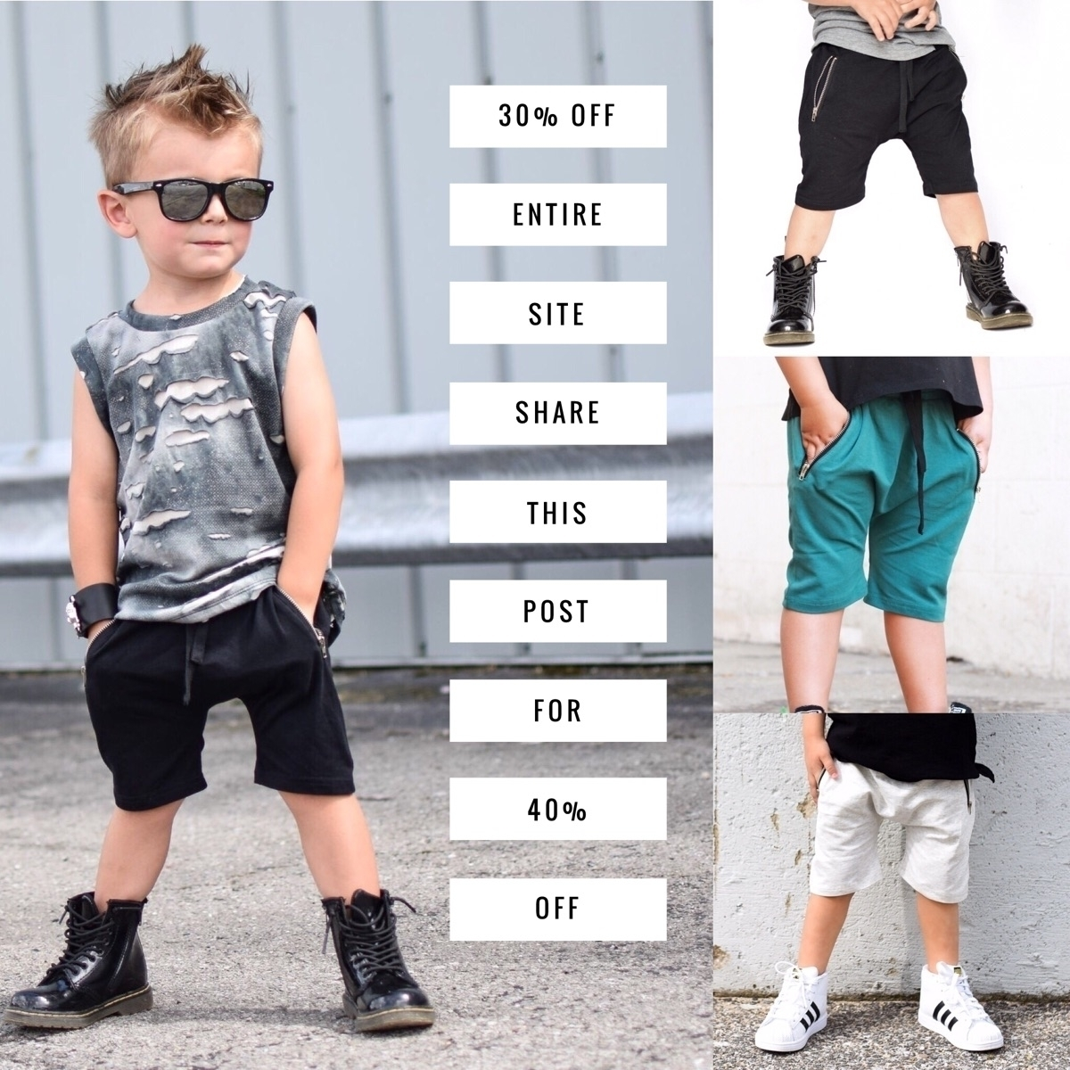Save 30% entire site code FLASH - 9twentyfivekids | ello