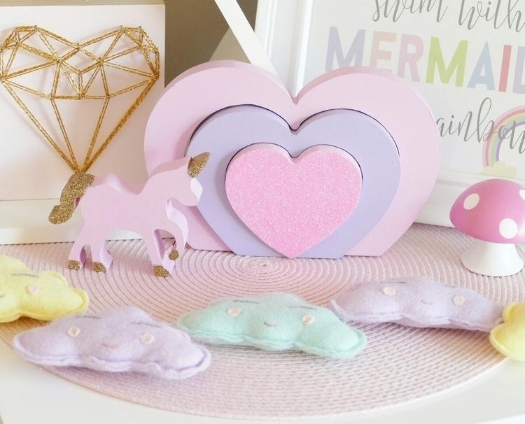 ~ Unicorns Hearts~ - handmade, decor - mystyleddream | ello