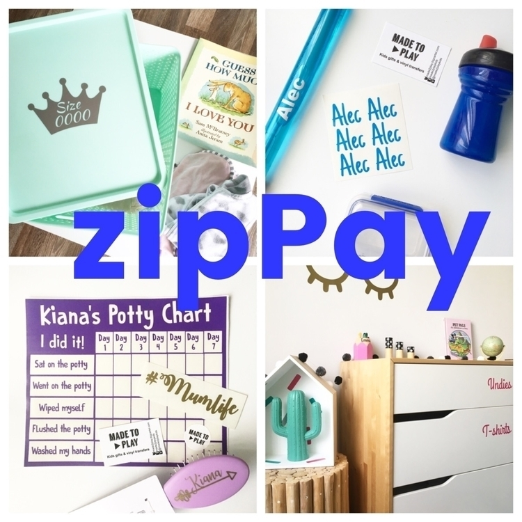 pretty exciting time. ZipPay - zippayau - made2playkids | ello