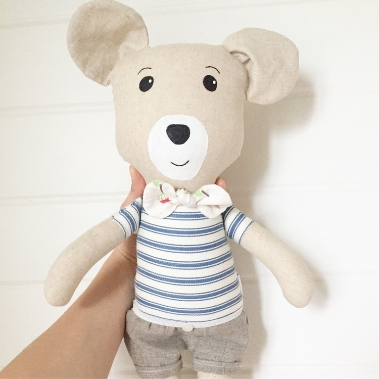 handmade Hugo Bear - sewlovedcollections | ello
