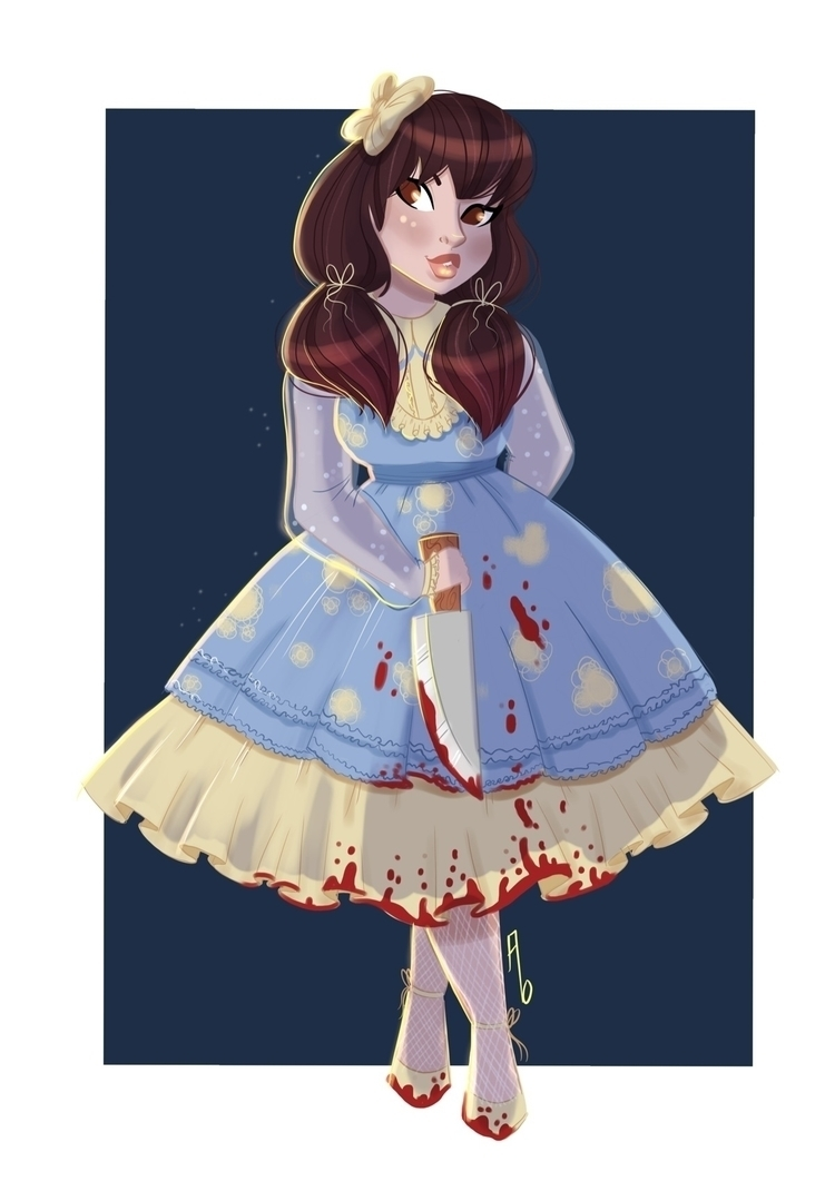Cute deadly - illustration, horror - mustashleigh | ello