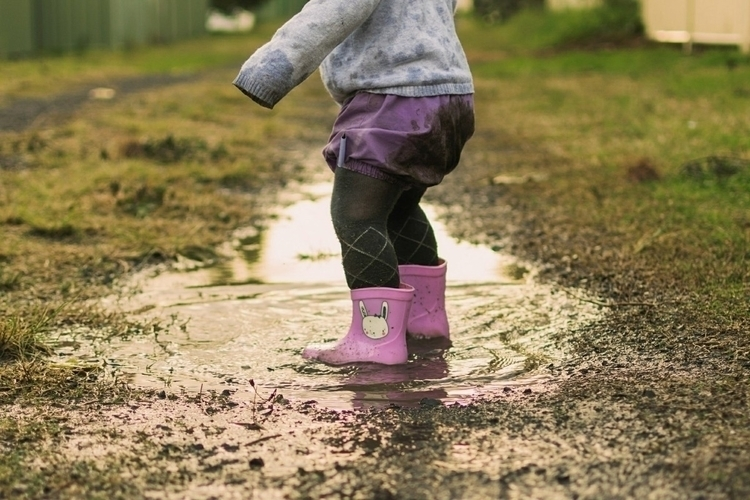 jumping muddy puddles  - fashion#photography#candid#childhood#kidsfashion#aussiehandmade#smallbusiness#fashionphotography#family#love#aussiekid#mumlife#outdoor#fashionista#childhoodunplugged#portraitphotography#childphotography#ello - zariah | ello