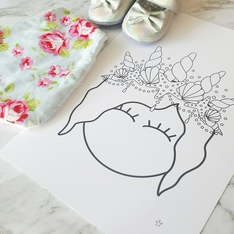 mermaid, mumswithhustle, print - sweetpetitenz | ello