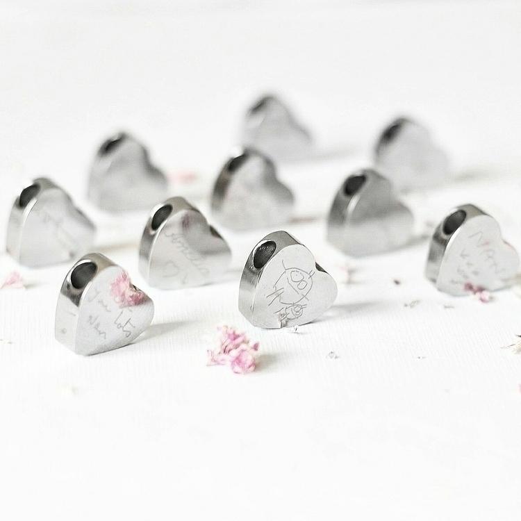 3D Heart Charm fit Pandora brac - hollyharrison | ello