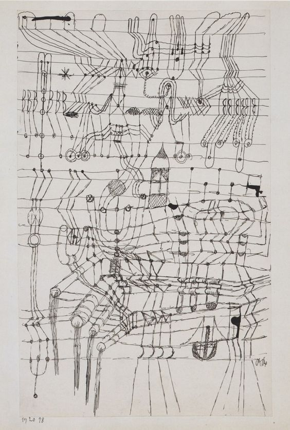 Paul Klee: Drawing Knotted Mann - arthurboehm | ello